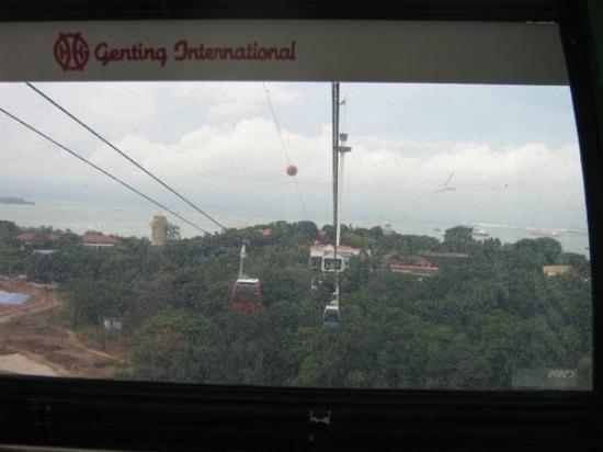 เกาะเซนโตซา, สิงคโปร์: cable car