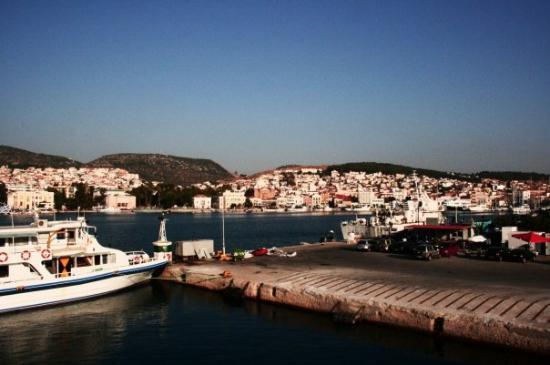 Lesbos, กรีซ: Grekland - hamnen i Mytilini