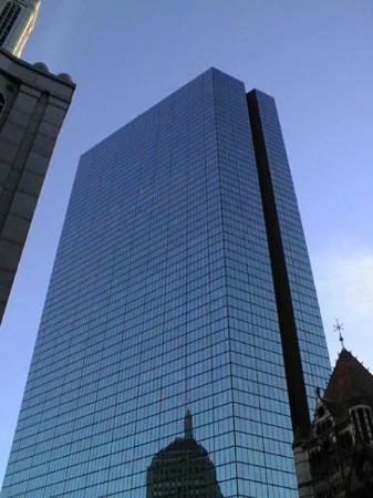 บอสตัน, แมสซาชูเซตส์: Blue Hancock Tower, Boston. Tallest building!