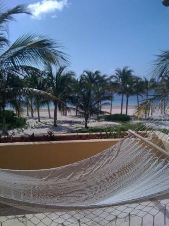 พลายาเดลคาร์เมน, เม็กซิโก: The hammock on the balcony!  What an amazing view from the room.  All the rooms have names, not