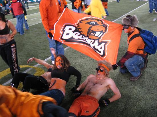 Oregon State University: Beavers take their civil war victory to Rich Brooks field.