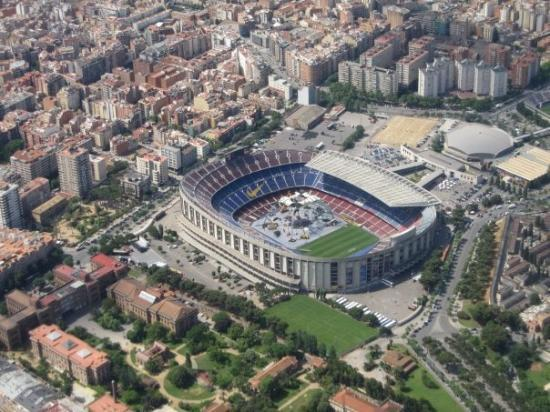 Camp Nou from up above.