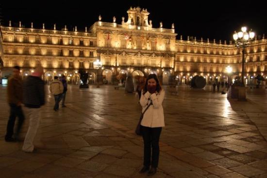 Salamanca's Plaza Mayor ภาพถ่าย