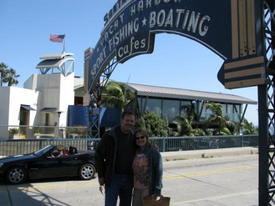 Santa Monica Pier: Us by the Pier