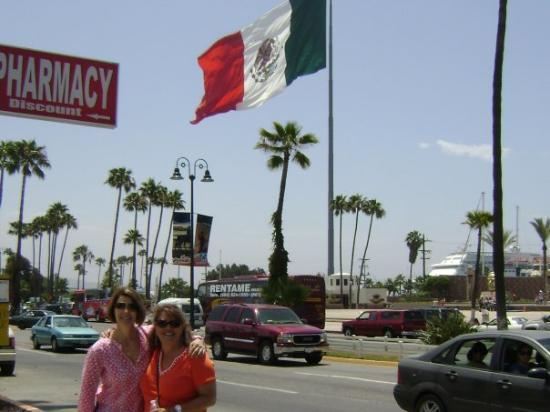 Katie and Jane in Ensenada.  Not much to see - quick tour!