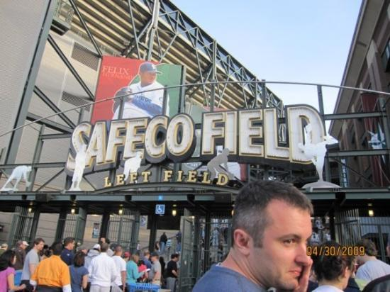 Safeco Field: Seattle Mariners game.  Can anyone pick out the Seinfeld reference that goes with this picture