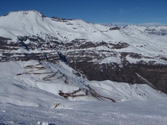 La Parva Ski Resort: Switchbacks all the way up to Valle Nevado, sometimes closed for a week due to heavy snow