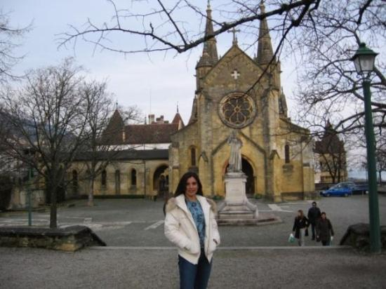The Collégiale church: Neuchatel, Switzerland