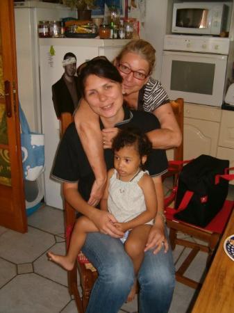 อานเนอมาส, ฝรั่งเศส: z ciotka Chantale i małą słodką Chanise :)