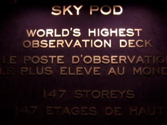 โตรอนโต, แคนาดา: Sky Pod at CN Tower
