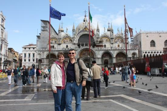 Craig and I at St. Mark's Square, Venice - September 2008