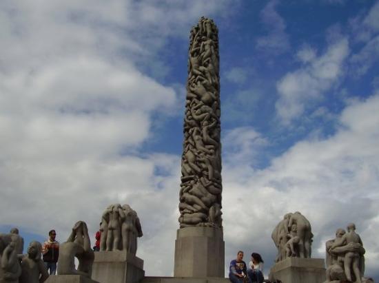 ออสโล, นอร์เวย์: mono lithic Sculptur-Oslo