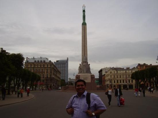ริกา, ลัตเวีย: sign of Liberty of Latvia.