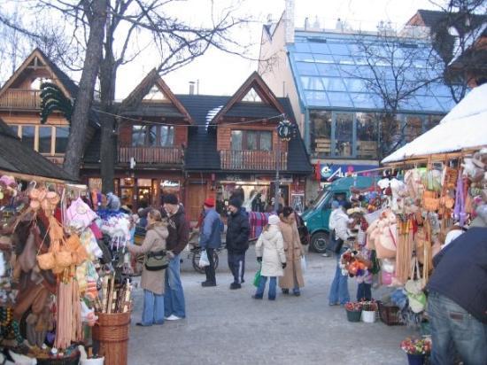 Krupowki Street ภาพถ่าย