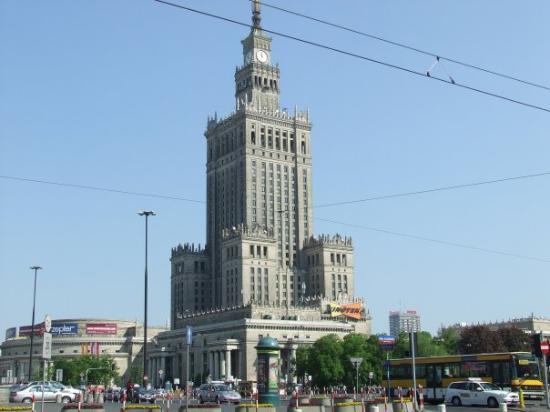 วอร์ซอ, โปแลนด์: edifio mas alto de varsovia,regalo de la antigua Union Sovietica