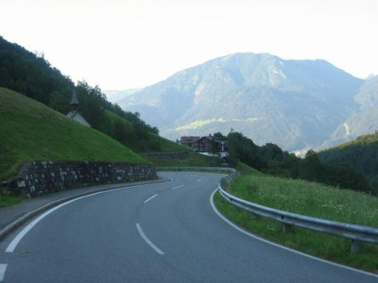 Bludenz, ออสเตรีย: Road from Brand (really fast on a bike)