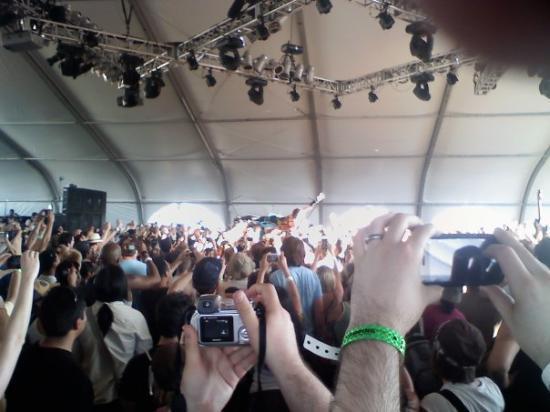 Coachella, แคลิฟอร์เนีย: Amanda Palmer crowd surfing