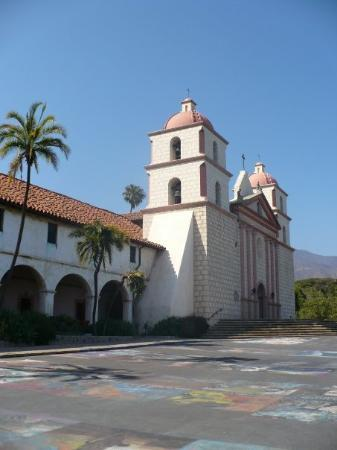 Old Mission Santa Barbara: Mission Santa Barbara. One of the famous Camino Missions set up by the Spaniards in California.