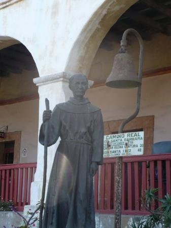 Old Mission Santa Barbara: Mission Santa Barbara. I think this could be Blessed Junipero Serra. It is still home to a commu