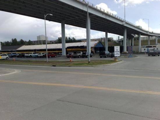 แองเคอเรจ, อลาสกา: Estacion de tren.... los rieles