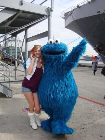 San Diego Bay Walk: the cookie monster was on the pier...  ?  hhaha c00kies!