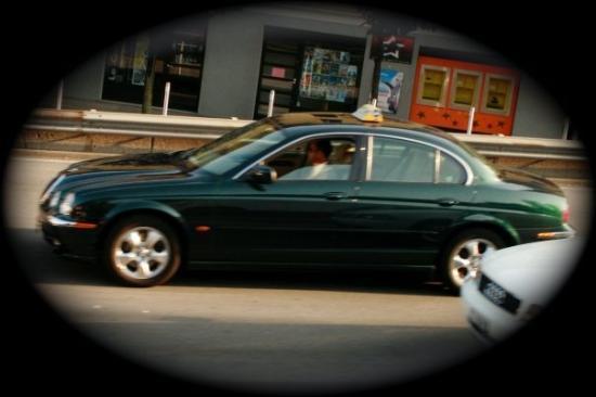 ลูกาโน, สวิตเซอร์แลนด์: Their cab is a Jaguar!
