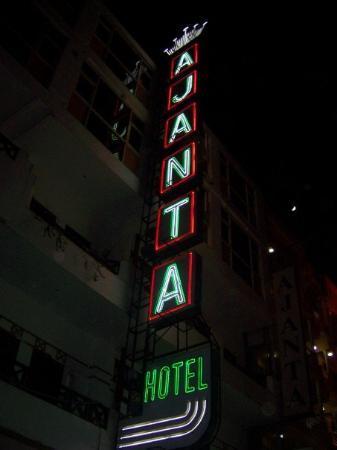 โรงแรมอาจันตา: The street was lined with Hotel signs that looked just like this one. Close to Pahar Ganj area
