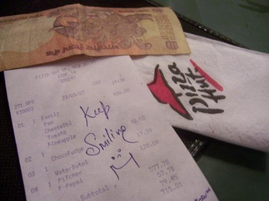 Check at the Pizza Hut in Connaught Place