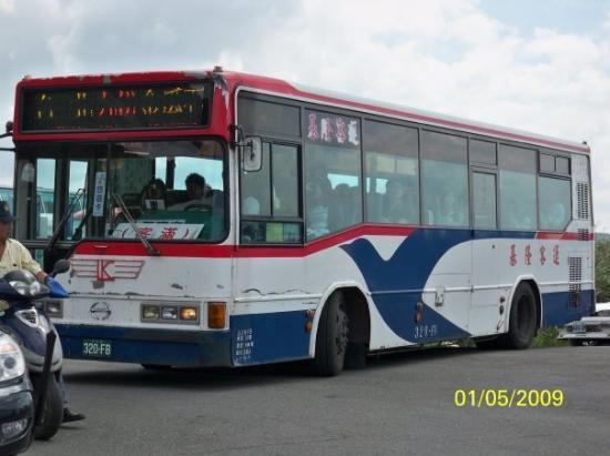 ไทเป, ไต้หวัน: 上九份所乘坐的巴士