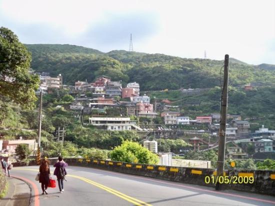 ไทเป, ไต้หวัน: 九份依山而建的建築物