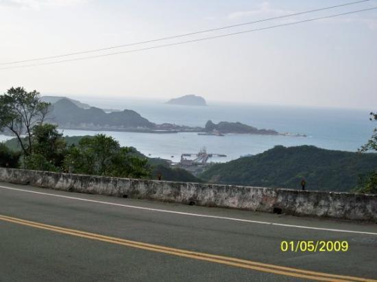 ไทเป, ไต้หวัน: 九份看到的海邊