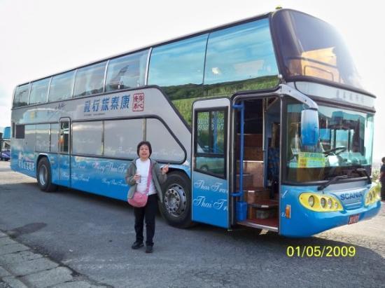 ไทเป, ไต้หวัน: 我們所乘坐的旅遊車