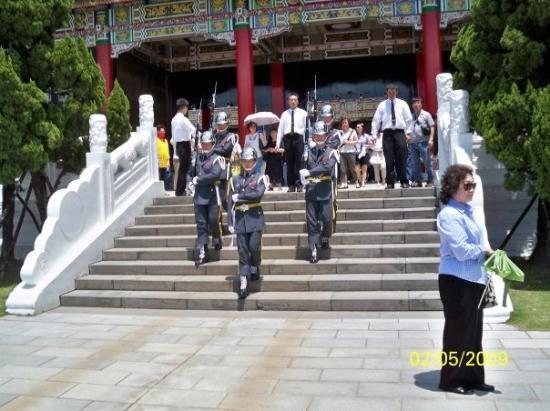 ไทเป, ไต้หวัน: 正殿換更後的儀隊各門口進發