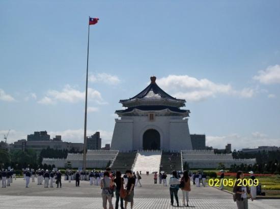 ไทเป, ไต้หวัน: 從自由廣場附近拍攝的中正紀念堂
