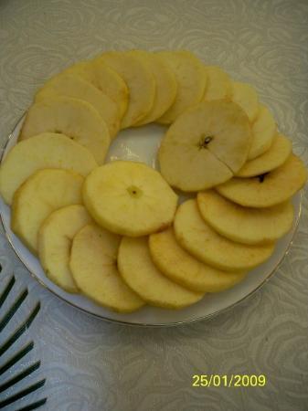ฮานอย, เวียดนาม: 這樣切法的蘋果你見過嗎?