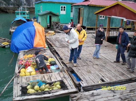 ฮาลองเบย์, เวียดนาม: 水上市場原來有水果買