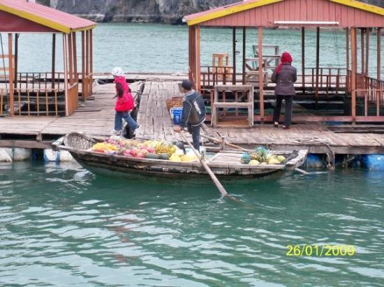 ฮาลองเบย์, เวียดนาม: 越式水上市場