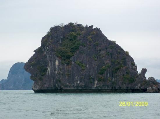 ฮาลองเบย์, เวียดนาม: 從側面看是否像一個人頭呢?