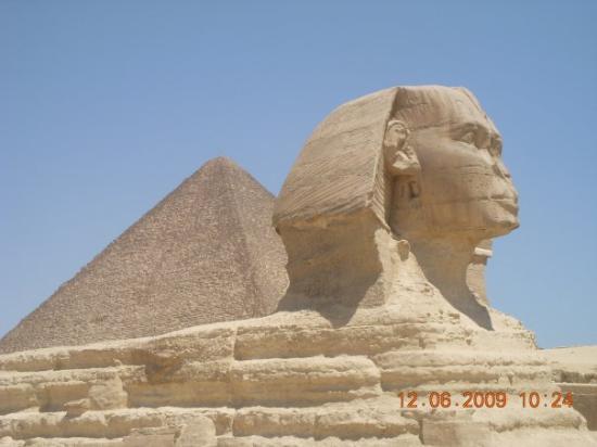 กิซ่า, อียิปต์: Esfinge y piramide de Khufu.Giza.Cairo