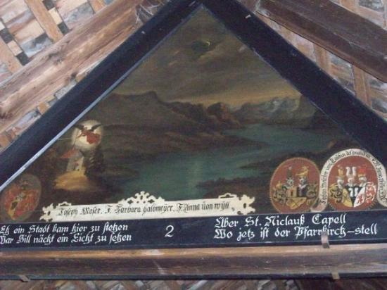 ลูเซิร์น, สวิตเซอร์แลนด์: Captioned triangular painting no. 2