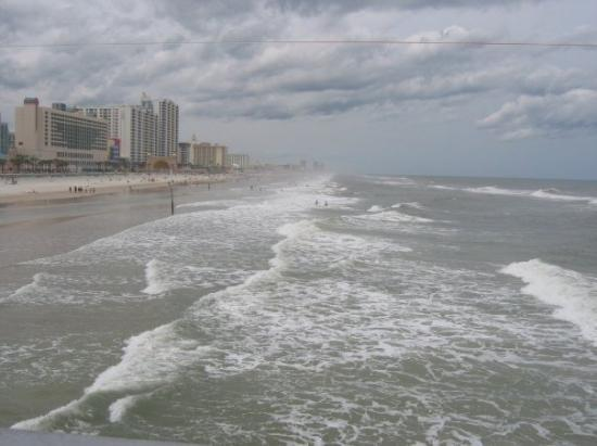 "Beach at Daytona Beach: Florida-Daytona Beach ""this i a view from a restuarant on the pier""."