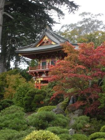 Japanese Tea Garden: Pagoda in Golden Gate Park, San Francisco.