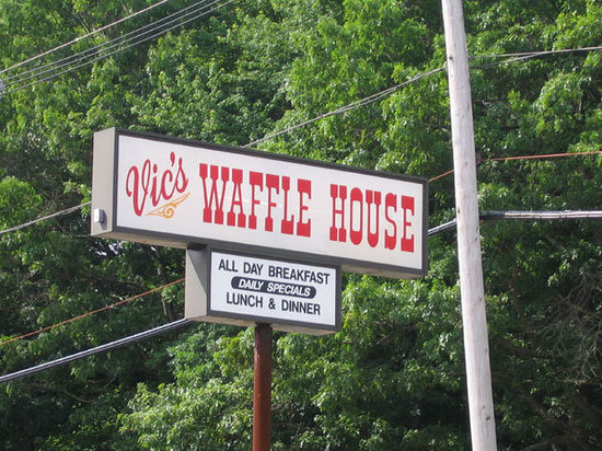 Vic's Waffle House: Vic's Wafflehouse in Tewksbury Massachusetts. Yummy food, great service, and everyone has that c
