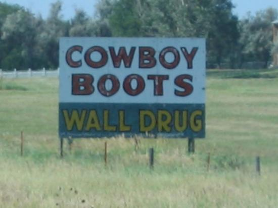 Wall Drug: ... and there were hundreds of them, all hand painted...