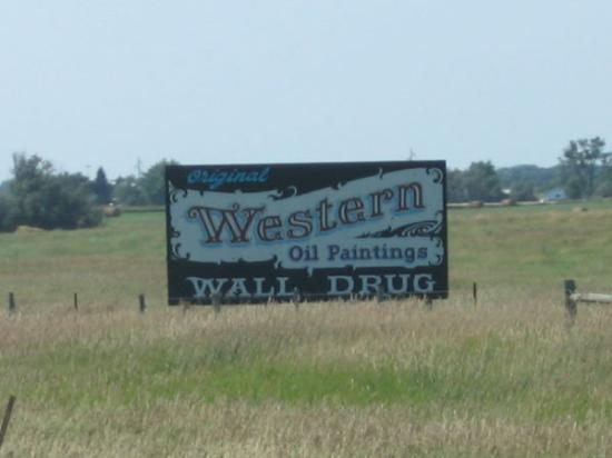 The billboards for Wall Drug started 534 miles before the store location in Wall, Sd...