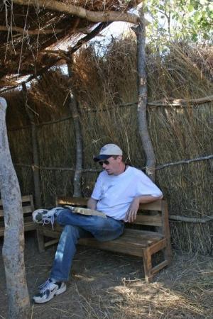 ลิฟวิงสโตน, แซมเบีย: Getting ready to preach!