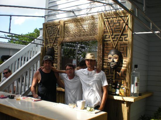 Duval Inn: Jermeny, Michael and Jess at the new bar