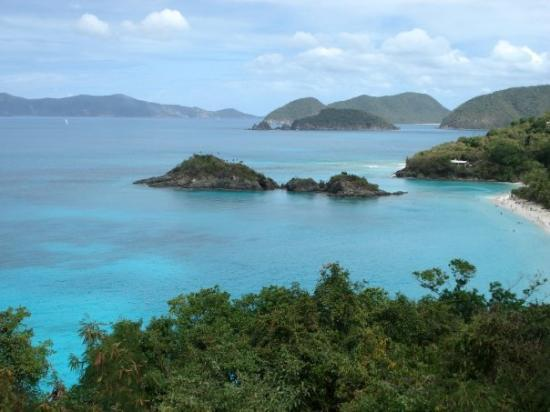 เซนต์จอห์น: St. John, Caribbean - Overlooking Trunk Bay