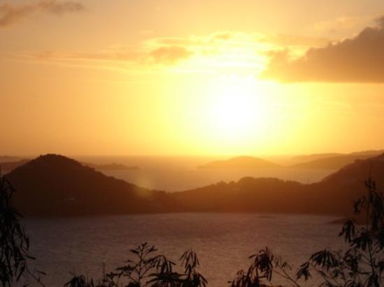 เซนต์จอห์น: St. John, Caribbean sunset