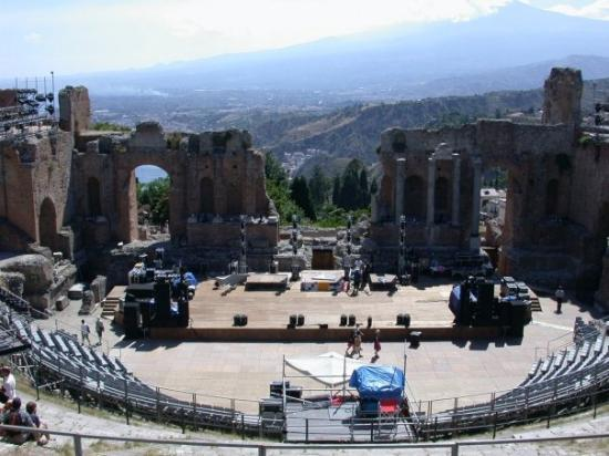 Ancient Theatre of Taormina: greek theatre in taormina, sicily
